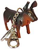 Leather Jacket Zipper Pull Charm - Doberman Pinscher Dog - Clasp, Small Toy Fob - Unique Animal Gifts