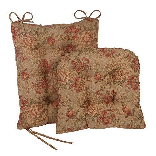 Klear Vu The Gripper Non Slip Rocking Chair Seat and Seatback Cushion Set, 17' x 17' x 3', Somerset