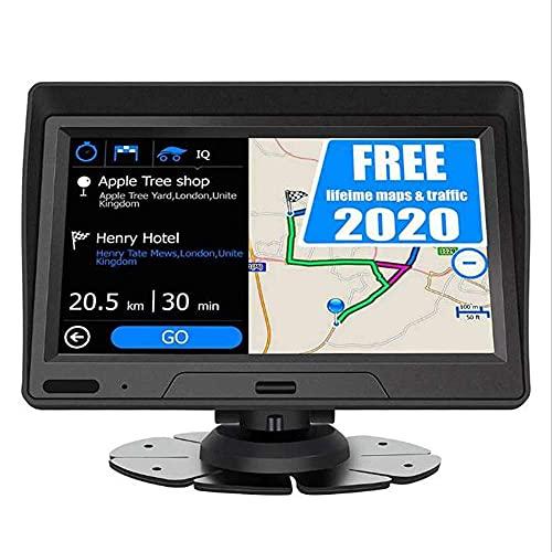 HYCy Navegación GPS de 7 Pulgadas Navegador de Pantalla de Contacto Quad Core 8GB + 256MB Dispositivo GPS Mapas incorporados y 2 Altavoces