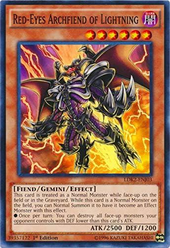LDK2-ENJ42 Common 1st Edition NM Yugioh Archfiend Black Skull Dragon
