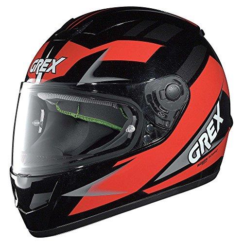 GREX Casco Integrale G6.1 Wry Metal Black Red, Tg. L