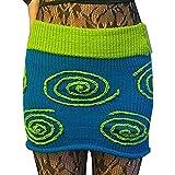 Faldas cortas de punto de bloque de color de bloque de color de cintura alta para mujer