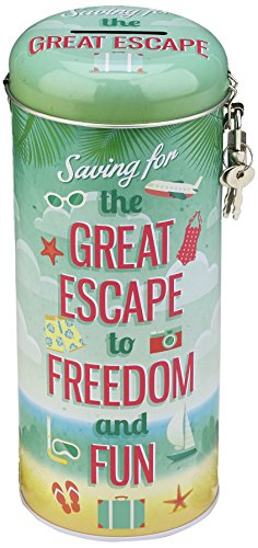 Boxer Holiday Great Escape - Hucha de Lata, diseño Playero con Texto en inglés