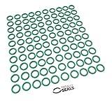 Totally Seals® 11 mm x 2,5 mm (16 mm OD) Green FKM (Viton™) juntas tóricas métricas, dureza de 75 A, paquete de 100 unidades