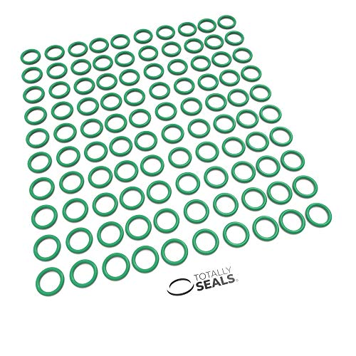 10mm x 2.5mm (15mm OD) Green Viton (FKM) Rubber Metric O-Rings - 75A Shore Hardness - Pack of 100