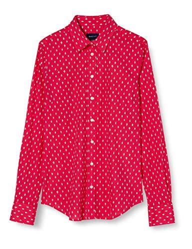GANT Damen D1. Desert Jewel Stretch BC Shirt Bluse, Rich Pink, 44