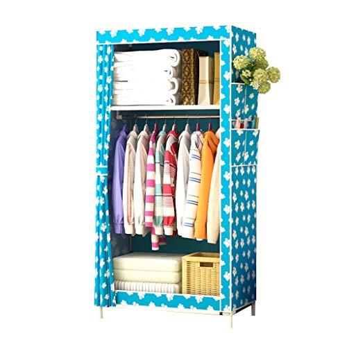 Foldable Closets Armario de Lona de una Sola Capa, Estante de Armario portátil Independiente, no se requieren Herramientas para ensamblar, Cubierta de Tela Lavable, 70 cm * 45 cm * 160 cm
