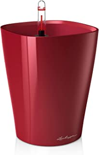 Lechuza 14919 Deltini Self-Watering Garden Planter, Scarlet Red High Gloss