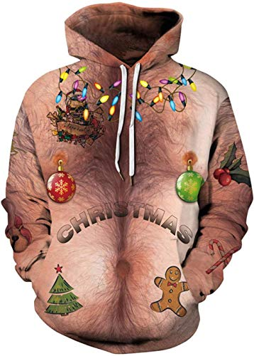 RITIOA 3D Druck Snipes Hoodie Weihnachts Pullover 3D Hoodie Lustiger Bequemes Langarm Sweatshirt-Aufgedunsene_Figur-M