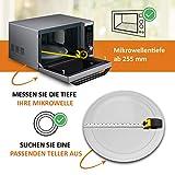 Mikrowellenteller Drehteller Teller Glasteller für Mikrowelle Ofen 24,5 cm - 5