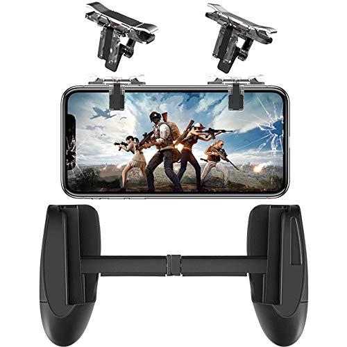 Mobile Game-Controller verbessert Sensitive Shoot, Ziel-Feuerauslöser Tasten L1R1 für PUBG/Fortnite/Messer Out/Regeln des Survival, iPhone Controller, Handy Joystick für iPhone Android (1 Paar)