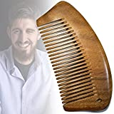 Handmade Carved Craft Chinese Natural Green Sandalwood Wood Comb, Exotic Hair Comb Gift--Anti-Static for Men's Mustache Beard Care, Anti Dandruff Women, Girls Head Hair Accessory