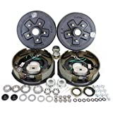 Southwest Wheel 3,500 lbs. Trailer Axle Self Adjusting Electric Brake Kit 5-4.5' Bolt Circle
