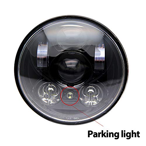 14,6 cm 5.75'' Runde LED-Scheinwerfer Hi/Lo Beam Standlicht Scheinwerfer Halo für Motorrad colight,M003-1pc