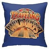 The Traveling Wilburys Collection - Funda de almohada decorativa para dormitorio, regalo divertido, funda de almohada de 45,7 x 45,7 cm