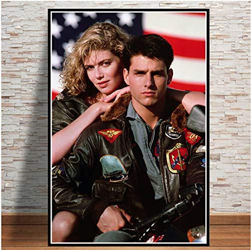 meilishop Top Gun Film 2020 Tom Cruise Film Bande Dessinée Affiches Et Impressions Peintures pour Salon Mur Décoration De La Maison Impression De Mode Affiche A608 (40X60Cm) sans Cadre