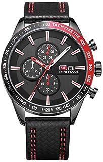 Mini Focus Mens Quartz Watch, Analog Display and Leather Strap - MF0026G.01