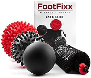 FlexFixx FootFixx Foot Massage Ball - Plantar Fasciitis Spiky Massager Balls