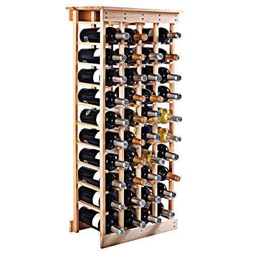 COSTWAY Estante de Vino Botellero para 44 Botellas Madera Ar