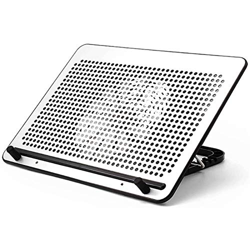 """Adesign Laptop Cooling Stand - Cooler Pad Compatible with Notebook 12""""-17"""" - 1 Powerful Quiet Fan 20cm - 4 Adjustable Heights Ergonomic"""