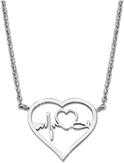 Heartbeat Pendant Necklace Gift for Nurse Jewelry for Medical Students, Doctor Nurses Meds Necklace