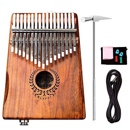 AXROAD MALL Caja eléctrica de 17 Tonos Pulgar Piano Folleto Acacia Madera...