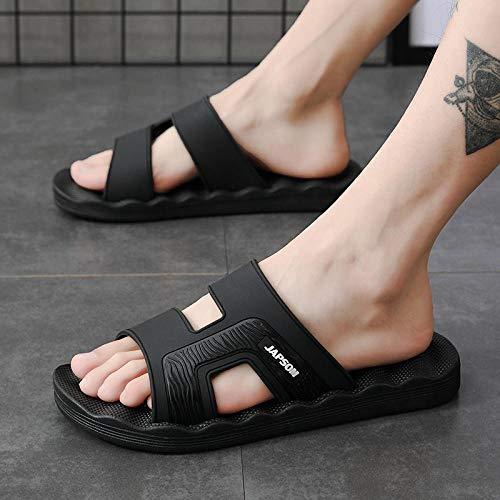 LNLJ Zapatillas de masaje baño antideslizantes de dibujos animados lindo moda suave fondo sandalias rojas_36