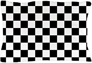 CafePress Black and White Checkered Pattern Standard Size Pillow Case, 20