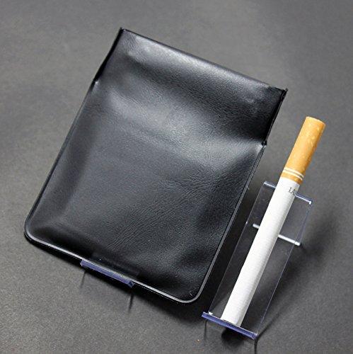 ポケット灰皿 ちっポケレギュラーサイズ黒無地 (日本製)