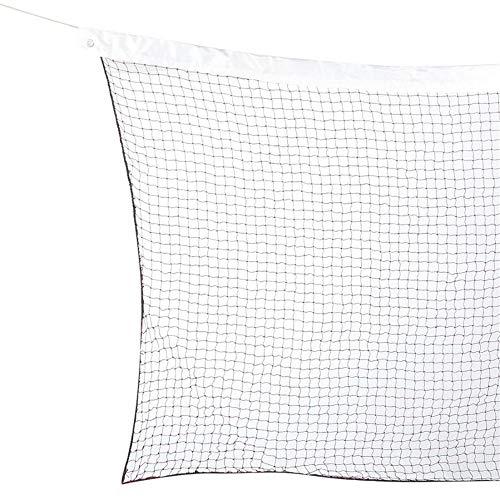 WAGX Badminton-Netz, 20 Ft x 2,5 Ft Außen Badminton Ersatznetz mit Kabeln Ropes - Wasserdicht und Sonnenschutz - für Hinterhof Beach Garden Schulhof