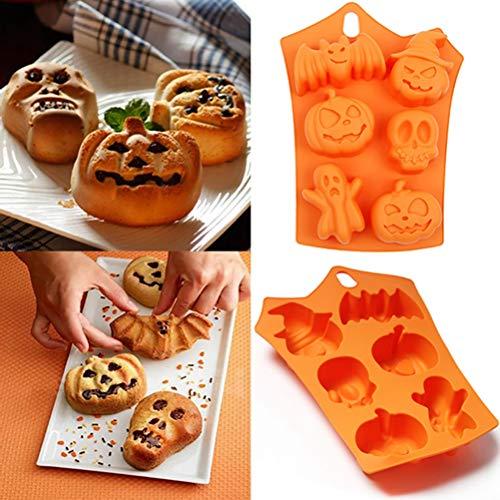 Venhoy Halloween Backform Muffinform Silikon Muffin förmchen Totenkopf eiswürfel Pralinenförmchen Muffin backform Muffin silikonform