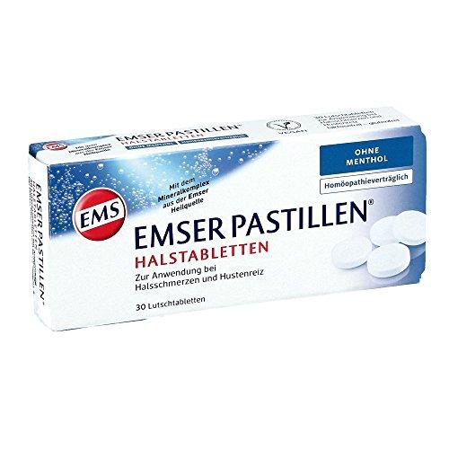 Emser Pastillen Halstabletten ohne Menthol – Bei Halsschmerzen, Husten und starker Stimmbelastung – 30 Stück