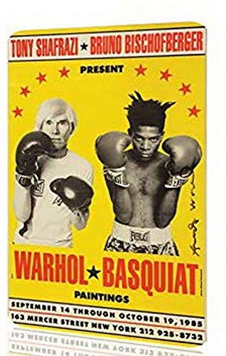 PotteLove Uptell Metal Sign Andy Warhol Basquiat Boxing Poster Art Vintage Aluminum Metal Signs Tin Plaque Wall Art for Garage Man Cave Beer Cafe Bar Pub Club Patio Home Decor 12