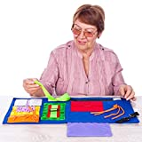 Fidget Blanket | Calming & Comforting Activities for Adults with Dementia | Sensory Blanket | Dementia Blanket for Seniors | Helps with: Alzheimers, Dementia, Asperger's, Autism, Anxiety and More