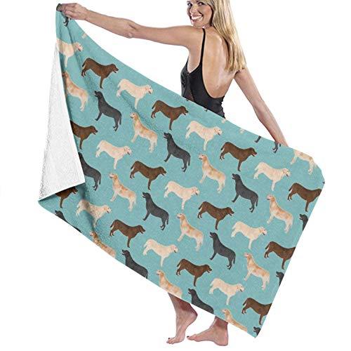Toalla de baño, 80 x 130 cm, lindos labradores, color amarillo, negro, para perros, de laboratorio, toallas de baño, súper absorbentes, para playa, gimnasio, playa, Swm Spa