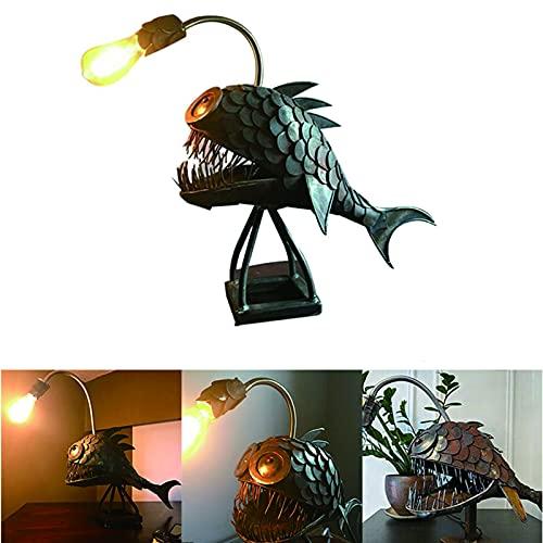 Angler Fish Lamp Art Lampe, Creative Flexible Lamp Head FüR Anpassungen Art Light Tischlampe FüR Zuhause, Bar, Restaurant, Cafe Art In The Luminaire (L)