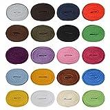 RETON 20 pares de cordones de cordones planos Cuerdas Reemplazo de cordones de zapatos atléticos de 5/16'de ancho para zapatillas deportivas Botas casuales Patines Zapatos 120cm (colores surtidos)