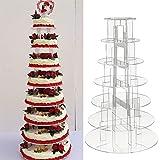 Parti multiware Support à gâteau Acrylique Présentoir à gâteau Support pour gâteau de mariage, Acrylique, 7 étages