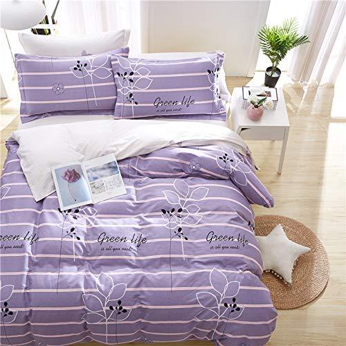 yaonuli Reine Baumwolle hochwertige Baumwolle Schleifen vierteiliges vierteiliges Set. Bettbezug 1.6 * 2.1. Bettlaken 2,3 * 2,5 Kissenbezug 48 * 74 Zwei