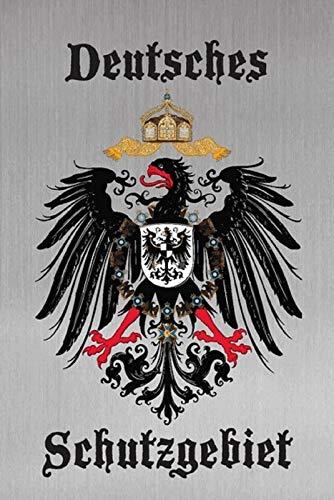 FS Deutsches Schutzgebiet Adler Wappen graues Blechschild Schild gewölbt Metal Sign 20 x 30 cm