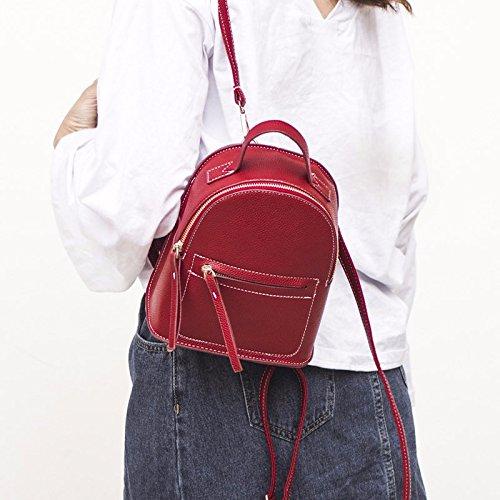 MSZYZ schoudertas voor vrije tijd, van PU-leer, mini-tas, rood
