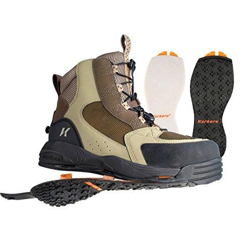 Korkers Redside Wading Boots Mens 13 Felt & Kling-On