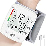 Wrist Blood Pressure Monitor, Blood Pressure Cuff with USB Charging, Automatic Digital Home BP Monitor Cuff Accurate Adjustable Cuff Intelligent Voice - Irregular Heartbeat & Hypertension Detector