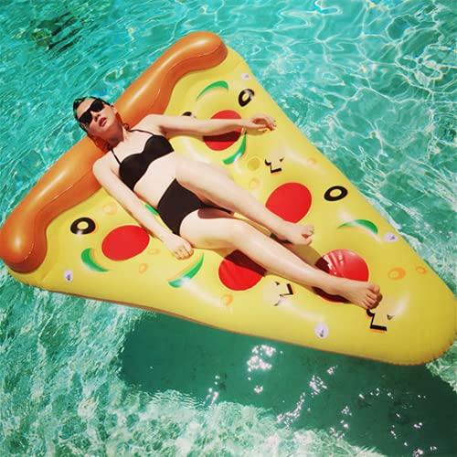 Aufblasbare Luftmatratze Pizza, Aufblasbarer Pizza Luftmatratze Pool Schwimmgerät Party für Erwachsene