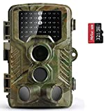 COOLIFE Wildkamera Fotofalle 20MP 1080P HD Jagdkamera Nachtsicht Bewegungsmelder IP66...