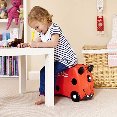 Trunki Trolley Kinderkoffer, Handgepäck für Kinder: Harley Marienkäfer (Rot) - 2