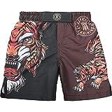 Hardcore Training Tiger Black Short de Boxe Enfant Fitness MMA BJJ Vêtements de Sport