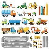DECOWALL DW-1712 Site de Construction Voitures Autocollants Muraux Mural Stickers...