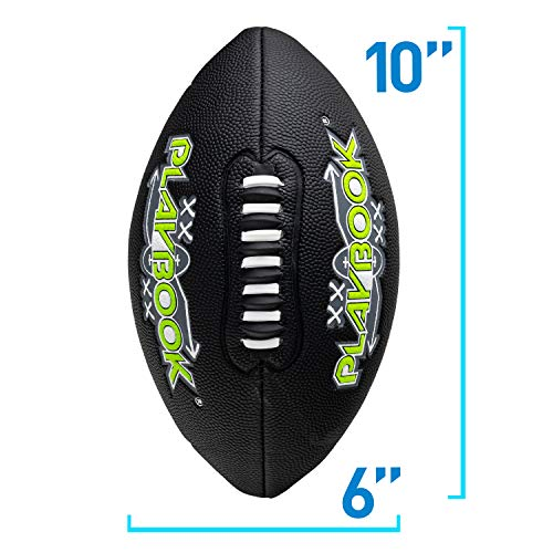Franklin Sports Playbook Junior Size Football with Route Diagrams, Perfect for Kids