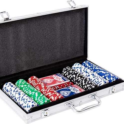 Yinlo Poker Chip Set - 300PCS Poker Set with Aluminum Case, 11.5 Gram Casino Chips for Texas Holdem Blackjack Gambling